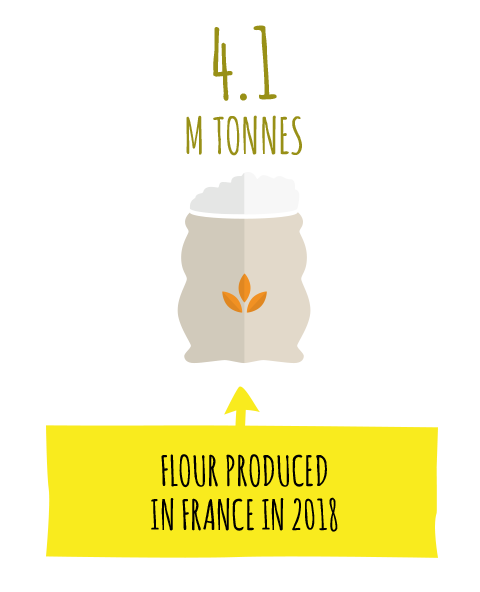 FLOUR PRODUCED IN FRANCE IN 2014