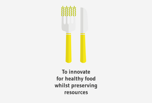 To innovate for healthy food whilst preserving resources