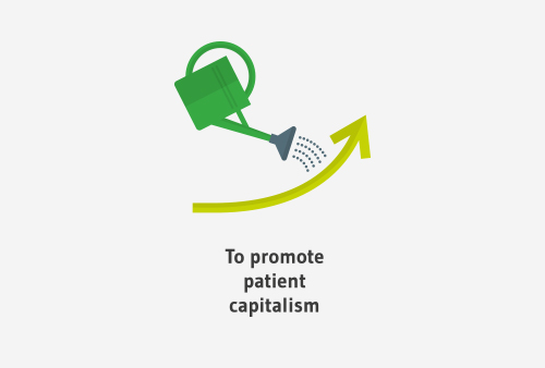To promote patient capitalism
