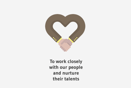 To work closely with our people and nurture their talents